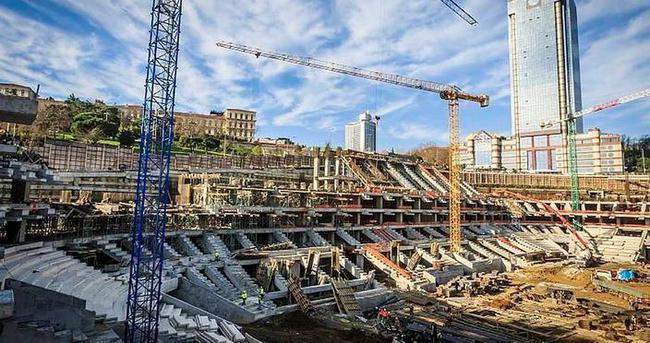 Vodafone Arena'da inşaat geçici olarak durduruldu