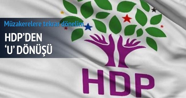 HDP'den U dönüşü: Müzakere masasına dönelim