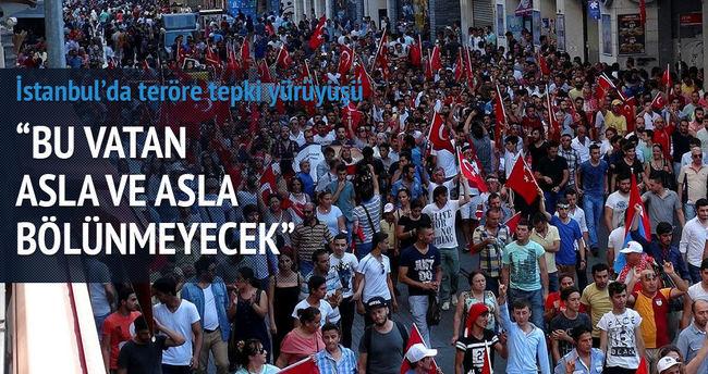 İstanbul'da teröre tepki yürüyüşü
