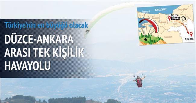 Düzce-Ankara tek kişilik hava yolu