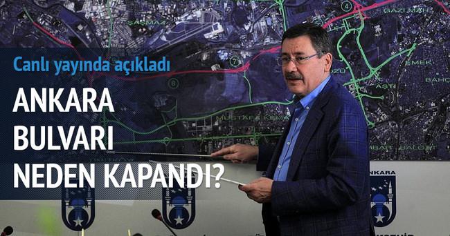 Melih Gökçek konuştu: Ankara Bulvarı neden kapandı