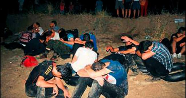 Suriyeli kaçakları piknikçiler kurtardı