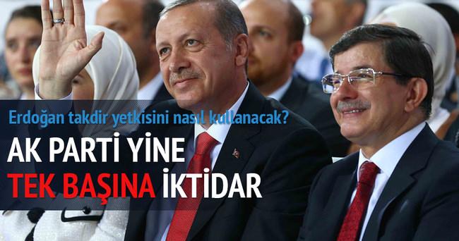 AK Parti yine tek başına iktidar