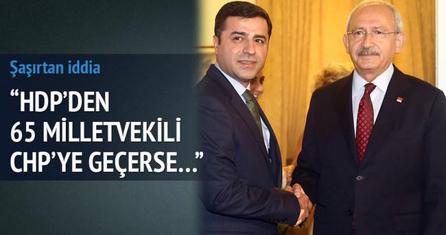 HDP'den CHP'ye 65 vekil geçerse...