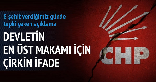 CHP'li Koç'tan devletin en üst makamına hakaretler…