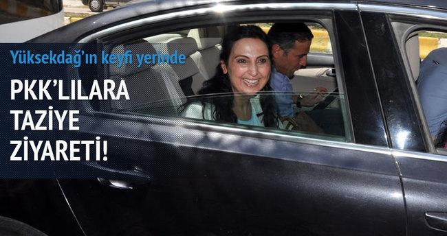 Yüksekdağ öldürülen teröristlerin ailelerini ziyaret etti