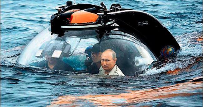 Maceracı Putin Karadeniz'in dibine daldı