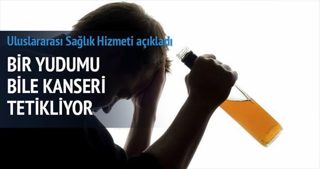 Alkolün bir kadehi bile kanser riskini artırıyor