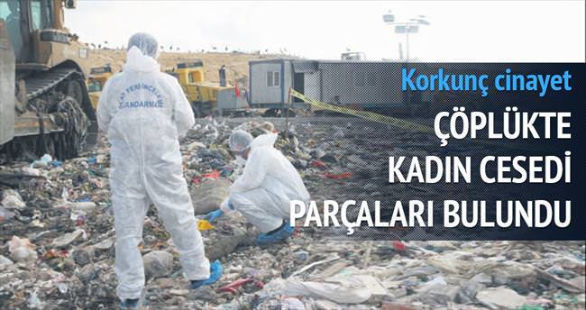Çöplükte kadın cesedi parçaları