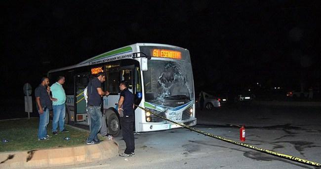 Şanlıurfa'da belediye otobüsüne saldırı