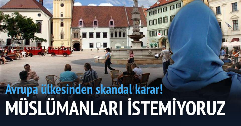 Slovakya Müslüman sığınmacı istemiyor