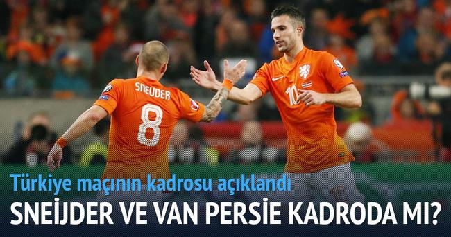 Sneijder ve Van Persie kadroda mı?