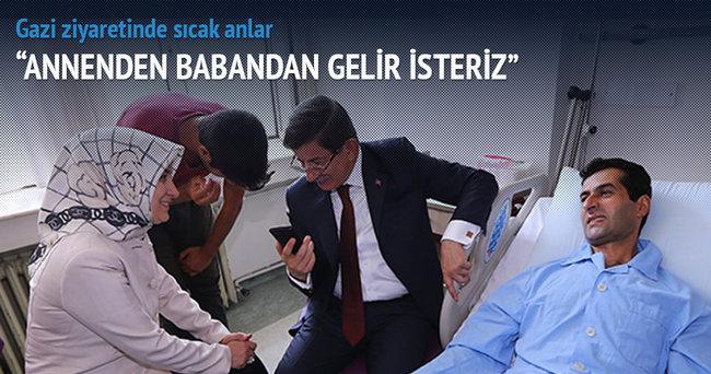 Başbakan Davutoğlu gazileri ziyaret etti