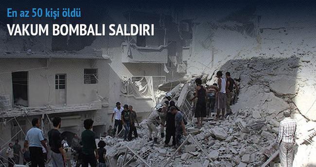 Esad'ın savaş uçakları sivilleri vurdu: En az 50 ölü