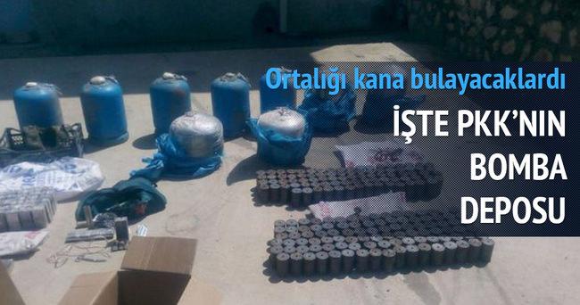 İşte PKK'nın bomba deposu!
