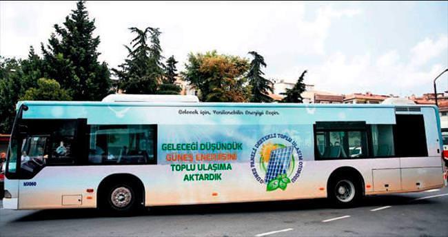Güneş enerjili otobüs seferde
