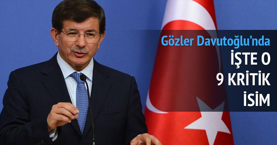 Davutoğlu'nun yeni kabinesindeki 9 kritik isim