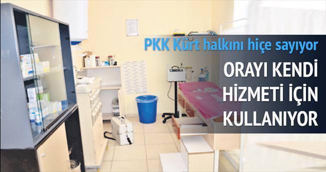 Sağlık ocağını da PKK'ya açmışlar