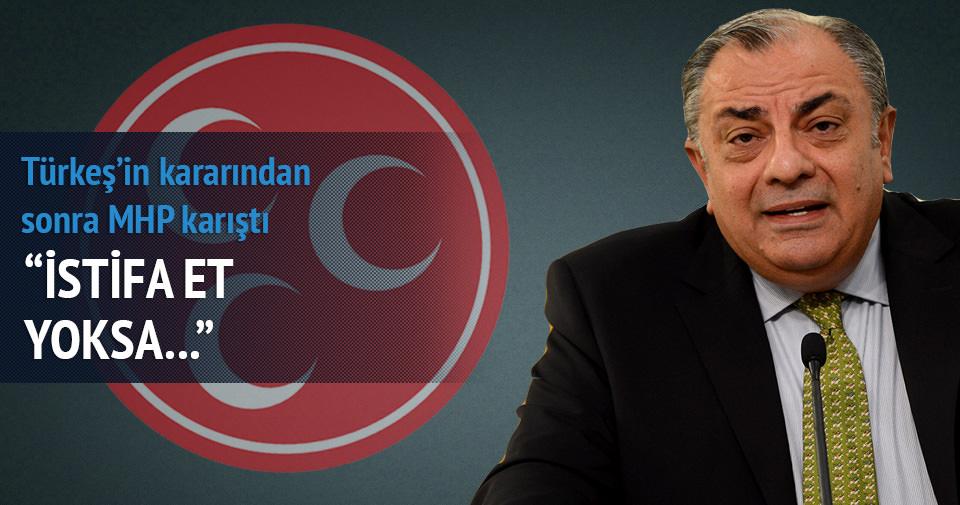 Türkeş'in kararından sonra MHP karıştı, istifa et yoksa...