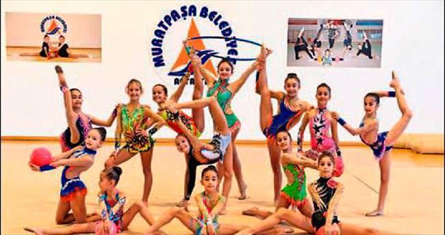 Cimnastikçilerin hedefi büyük