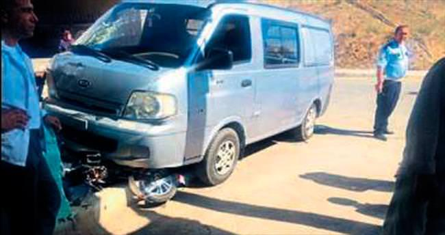 Minibüsün çarptığı bisikletli çocuk öldü