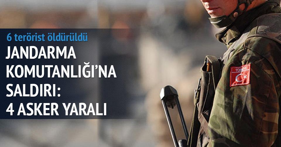 Jandarma komutanlığına saldırı: 4 asker yaralı