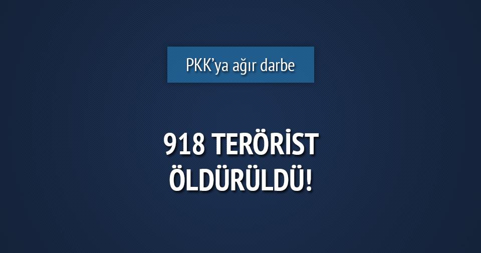 PKK'ya ağır darbe: 918 terörist öldürüldü