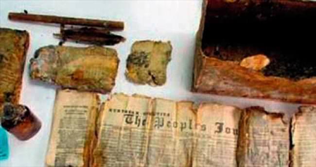 Zaman kapsülünde 120 senelik gazete