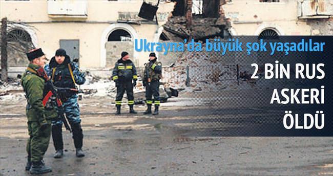 Ukrayna'da 2 bin Rus askeri öldü