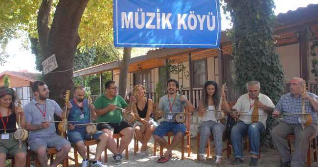 Türkiye'nin ilk müzik köyü kuruldu