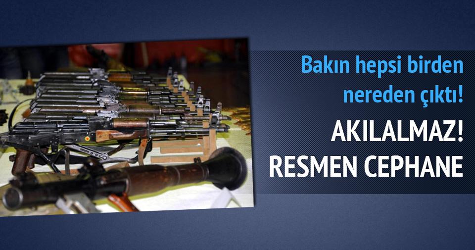 Diyarbakır'da cephanelik bulundu