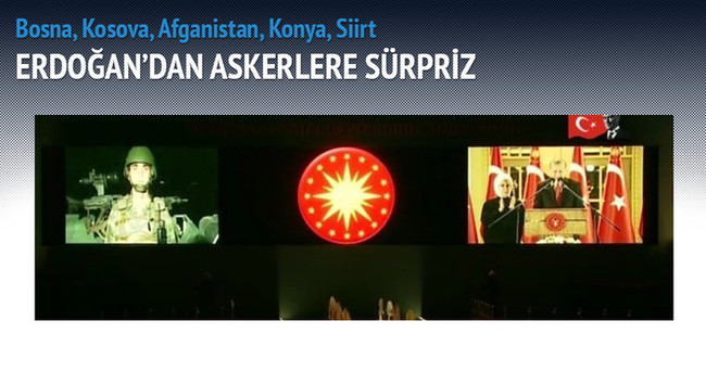 Erdoğan görevdeki askerlerin bayramını kutladı