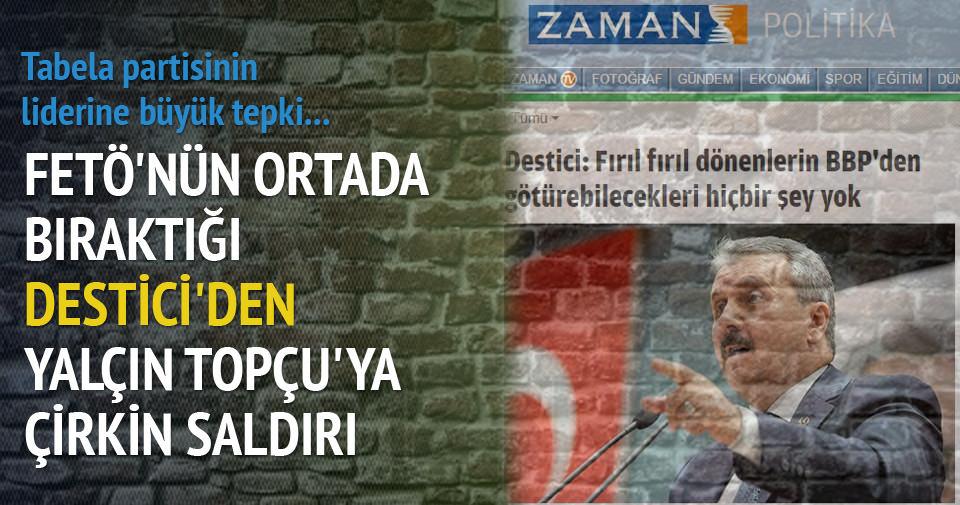 Mustafa Destici'den Yalçın Topçu'ya çirkin saldırı!