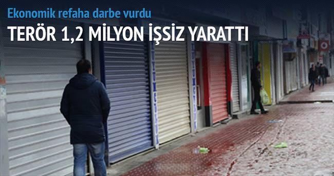 Terör 1.2 milyon işsiz yarattı