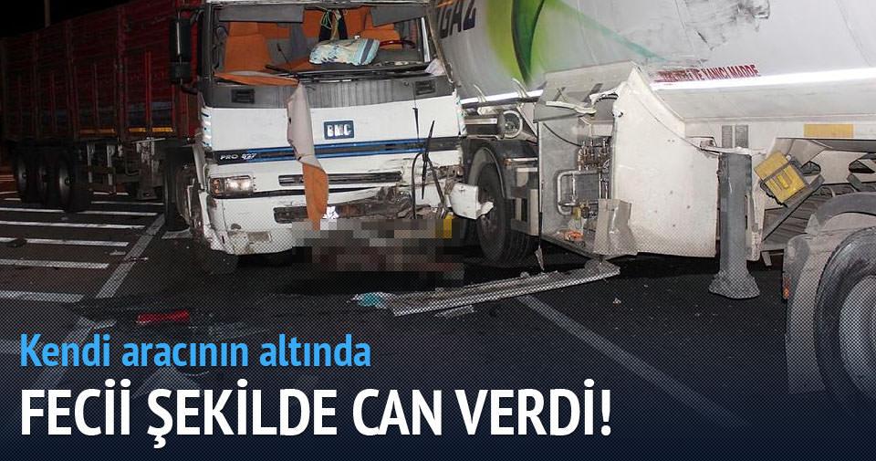 TIR sürücüsü, kendi aracının altında öldü