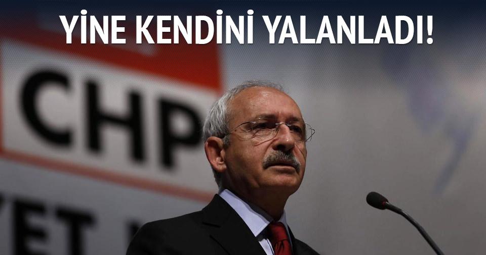 Kılıçdaroğlu kendini yalanladı