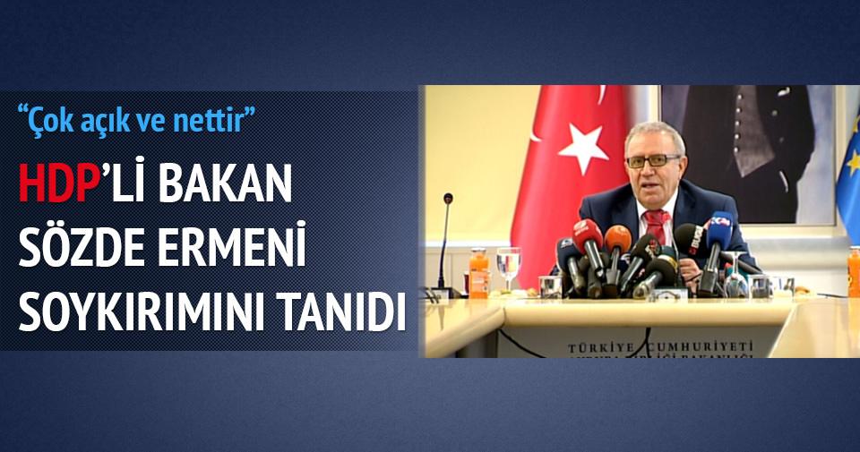AB Bakanı HDP'li Konca'dan Ermeni soykırımı açıklaması