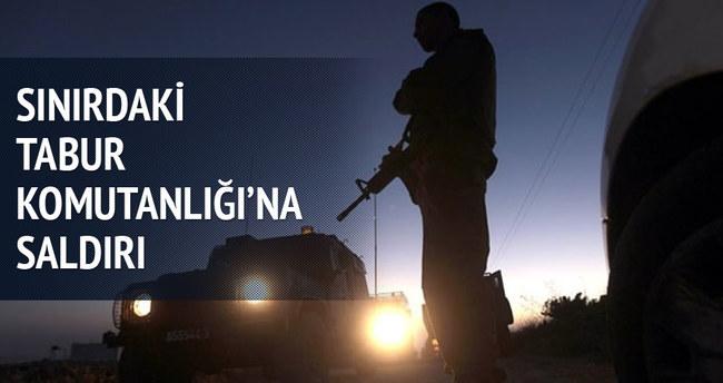 Şemdinli'de tabur komutanlığına saldırı
