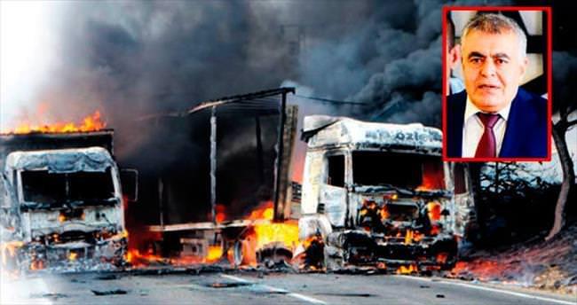 Araç ve makinelerin yakılmasına karşıyız