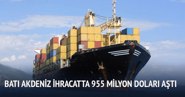 Batı Akdeniz, ihracatta 955 milyon doları aştı