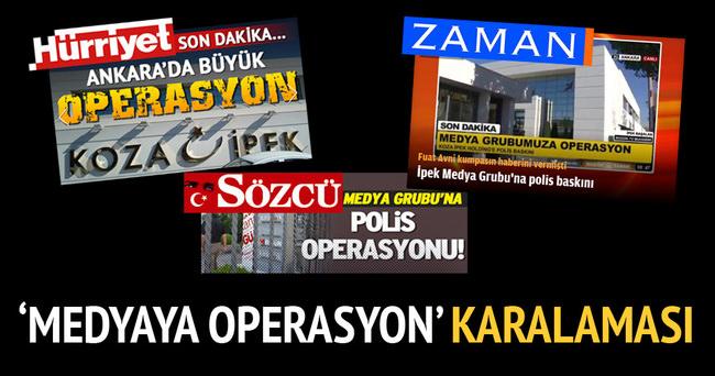 Doğan ve FETÖ'den 'medyaya operasyon' karalaması