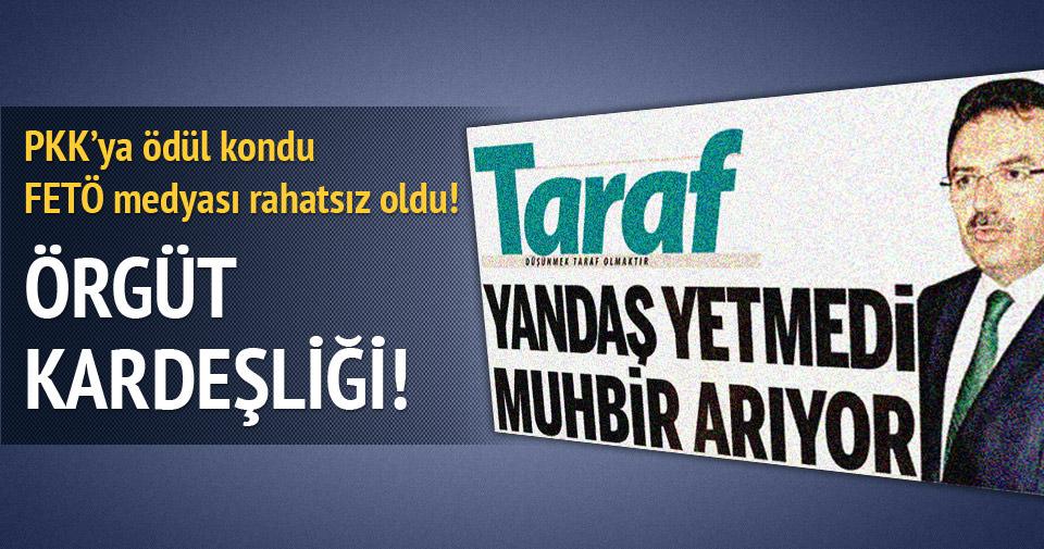 PKK'ya ödül kondu FETÖ medyası rahatsız oldu!