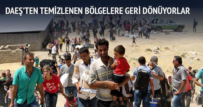 Sığınmacılar, DAEŞ'ten temizlenen bölgelere dönüyor
