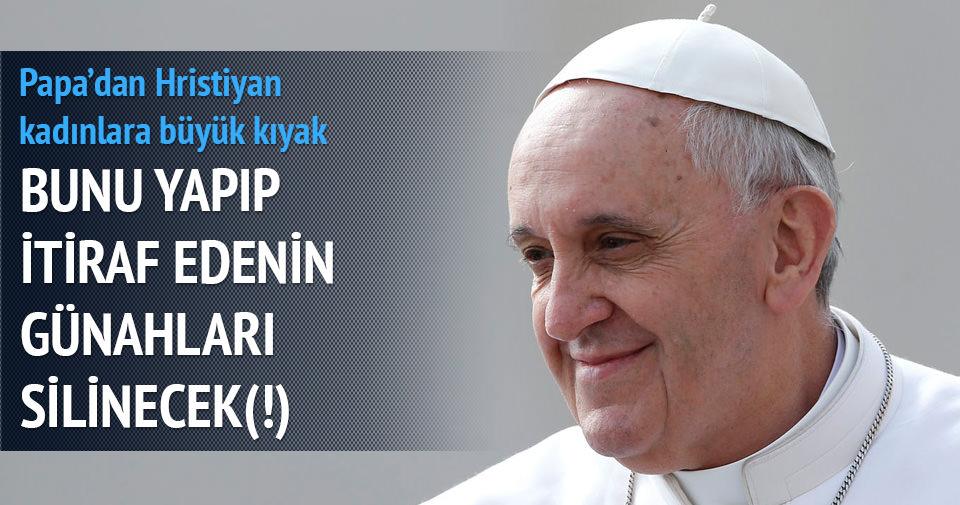 Papa'dan kadınlara kürtaj affı