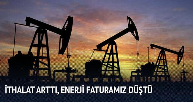 Ham petrol ithalatı arttı, enerji faturamız düştü