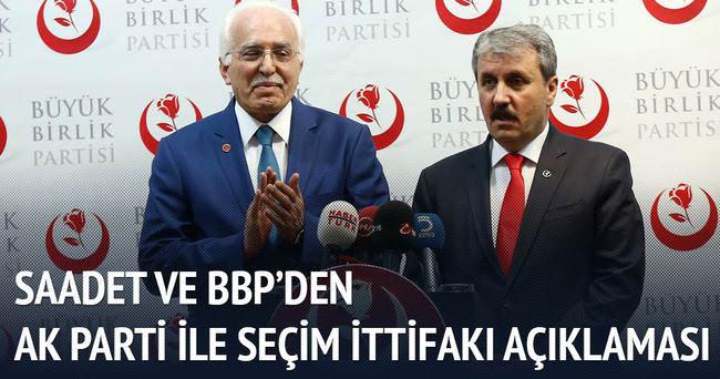 BBP ve SP, AK Parti'yle ittifaka kapıları kapatmadı
