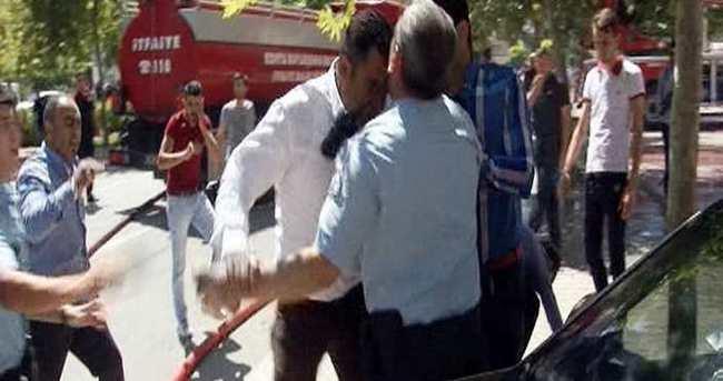 Polise kafa ve yumruk atan şahıstan açıklama