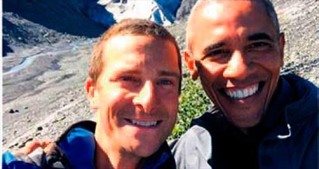 Obama ve Grylls'den Alaska selfie'si