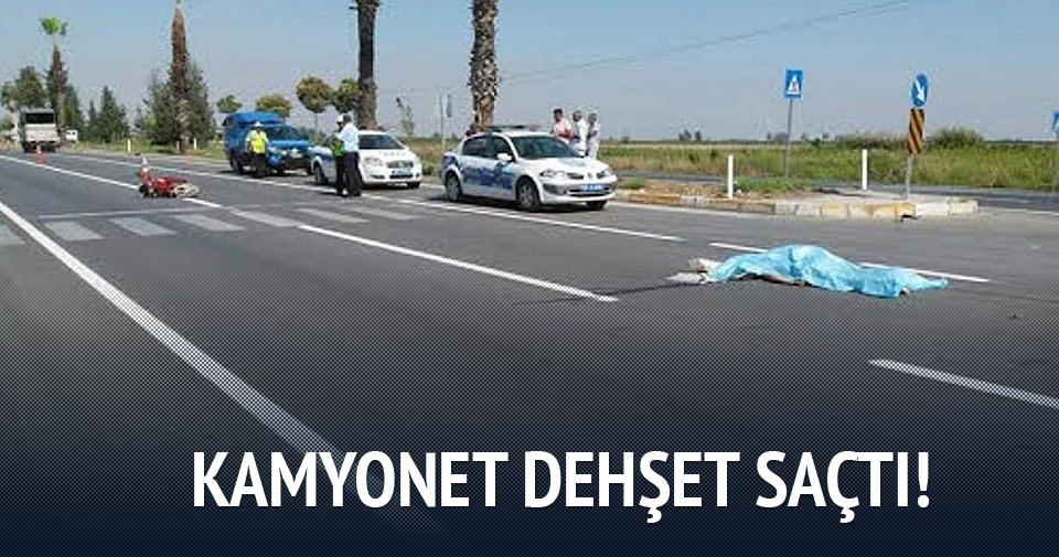 Kamyonet motosiklete çarptı: İki ölü!