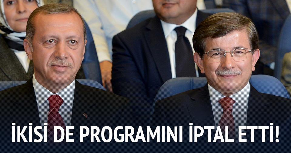 Erdoğan ve Davutoğlu o ziyareti iptal etti